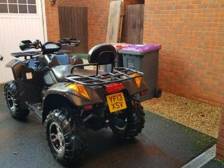 Quad bike 2013 Quadzilla X6 600cc road legal 4×4 low miles atv