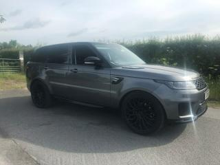RANGE ROVER SPORT HSE 2018/18 REG,GREY/BLACK LEATHER. NEW SHAPE. MAY PX VAN
