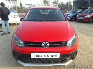 Red 2014 Volkswagen Cross Polo 1.5 TDI 53921 kms driven in Madhapur
