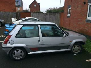 RENAULT 5 GT TURBO 1990 PROJECT SILVER DRY STORED FOR 20 YEARS