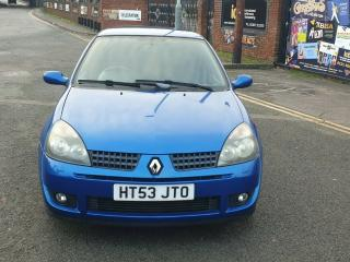 RENAULT CLIO SPORT CUP 16V 2.0 PETROL 5 SPEED MANUAL LOW MILEAGE: 46113 MOT'D