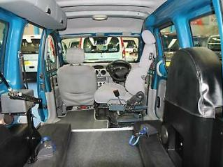 Renault Kangoo Auto internal Transfer from wheelchair to drive car Automatic