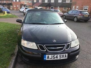 saab 9 3 2004 convertable long mot oct 19 in black