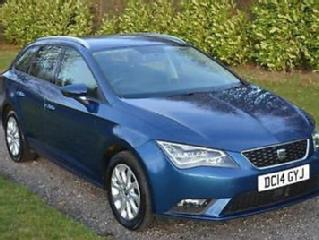 Seat Leon 1.6TDI CR Sports Tourer SE Tech Pack DIESEL ESTATE 2014 SAT NAV