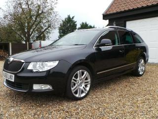 SKODA SUPERB ELEGANCE 2.0TDI ESTATE AUTO 1 OWNER 2010 91K 170BHP TOP SPEC SUPERB