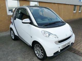 SMART FORTWO 1.0 71bhp PASSION,CRYSTAL WHITE,£20 R/TAX,72+MPG,VERY EASY TO PARK