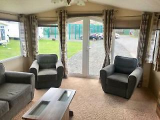 Stunning pre owned luxury caravan for sale at Eyemouth holiday park