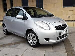 Toyota Yaris 1.0 VVT i T3 5 DOOR. SILVER. 41000 MILES ONLY