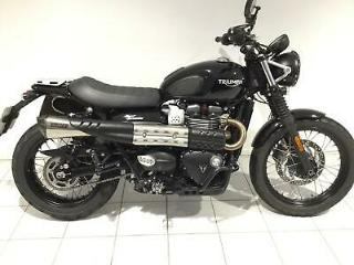 TRIUMPH STREET SCRAMBLER 68 plate only 400 miles + awesome extras