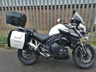 Triumph Tiger Explorer ABS 13 White FULLY LOADED+FULL LUGGAGE+FSH+WARRANTY+MOT