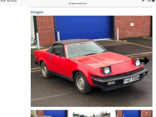 Triumph TR7 tr7 tr8 convertible 1 owner 48000 miles barn find project