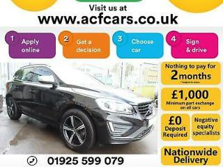 V2017 BLACK VOLVO XC60 2.4 D4 190 R DESIGN AWD DIESEL AUTO CAR FINANCE FR £79 PW