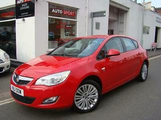 Vauxhall Astra 1.4i 16v Excite, 2011 with 57k Miles, Superb Car in Red