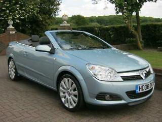 VAUXHALL ASTRA 1.9 CDTi DESIGN TWIN TOP 2DR [150] CONVERTIBLE 2008 08