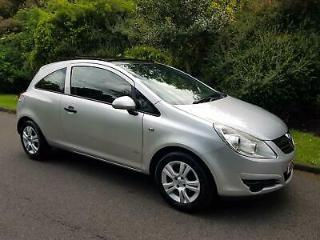 VAUXHALL CORSA 1.2i 16v A/C ACTIVE PLUS 3 DOOR 2008 SILVER *PAN ROOF
