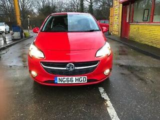 Vauxhall Corsa 2017 1.4 petrol 3dors red only 29000 miles full service history