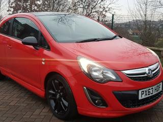 Vauxhall corsa limited edition Red 1.2 petrol 3 door low mileage 12 months MOT