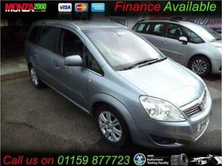 VAUXHALL ZAFIRA 1.8i VVT 2010 Elite MPV NIL DEPOSIT FINANCE AVAILABLE ASK