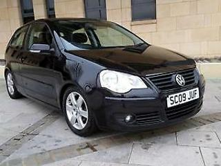 Volkswagen Polo 1.2 60ps 2009MY Match. METALLIC BLACK. 67000 MILES, LOWERED