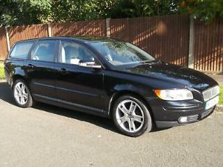 VOLVO V50 2007/56 1.8 SE, 5 SPEED MANUAL, METALIC BLACK WITH GREY LEATHER TRIM