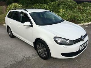 VW GOLF 1.6TDI DSG SE AUTO ESTATE, 12/12, 68K, CANDY WHITE, SUPERB