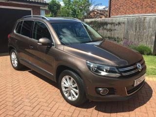 VW Tiguan SE 2.0 TDI Bluemotion TECH in metallic nutmeg brown, stunning
