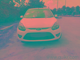 White 2010 Ford Figo Petrol EXI 50500 kms driven in Gautam Buddha University