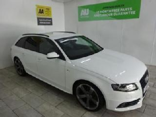 WHITE AUDI A4 2.0 AVANT TDI S LINE BLACK EDITION *FROM £73 PER WEEK