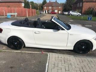White bmw 1 series sports plus convertible 118d low mileage mint condition